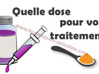 Quelle dose utilisée pour vos traitements avicoles